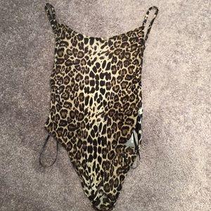 Sheer Leopard Print Bodysuit